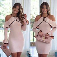 Women's Long Sleeve Maxi Dress Boho Floral Summer Party Beach Sundress
