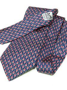 Hermes Silk Tie 7024 TA France Red White Blue