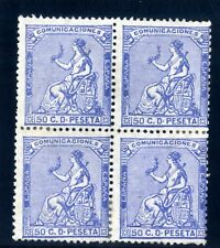 Sellos de España 1873 nº 133 A 10 centimos  bloque de cuatro nuevo