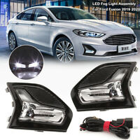 2Pcs Front LH//RH Side Fog Lamp Light Bezel For Ford Fusion//Mondeo 2013-2016 AT1