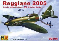 REGGIANE Re.2005 SAGITTARIO (REGIA AERONAUTICA & ANR MKGS) #92194 1/72 RS MODELS