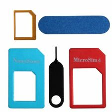 SIM Card Adapter Universal 5-in-1 Nano to Micro Standard Converter Tools Set