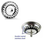 DOUBLE-LAYER Lavello in acciaio Inox da Cucina Colino Spina dei rifiuti 79.3 mm