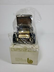 Banthrico 1910 Baker Electric Auto Die Cast Coin Bank Savings Bank Of New London