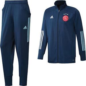 Adidas Mens Ajax Training Tracksuit - Blue Football Soccer
