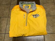 Nashville Predators jacket style 1/4 zip pullover size XL yellow