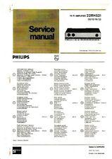 Service Manual-Anleitung für Philips 22 RH 521