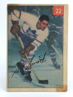 1954-55 Sid Smith #22 Toronto Maple Leafs Parkhurst Lucky Hockey Card G943