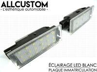 LED ECLAIRAGE BLANC XENON PLAQUE IMMATRICULATION pour RENAULT LAGUNA 2 & 3 01-14