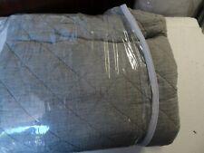 Pottery Barn Belgian flax Diamond linen quilt twin flagstone New