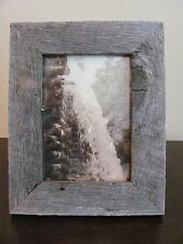 5x7 Vertical Sepia Photo in Rustic Wood Frame ~ Cascade