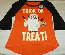 """NEW"" Despicable Me ~ MINIONS HALLOWEEN ~ SHIRT Girl's XS 4 5 GLOWS in DARK"