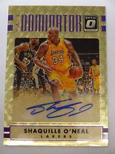 2016-17 Donruss Optic 'Hall Dominator' Shaquille O'Neal Superfractor AUTO 1/1