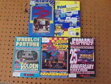 3 GAME TEK DOUBLE DARE JEOPARDY WHEEL of FORTUNE + 2 HI TECH PRINT POWER + IBM