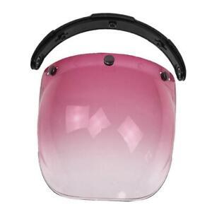 Motorcycle Helmet Visors Bubble Shield 3-Snap Flip Up Open Face Anti-Fog