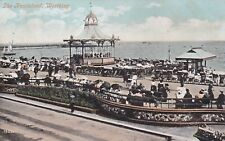 WORTHING -  OLD BIRDCAGE BANDSTAND AND PROMENADE COLOUR POSTCARD