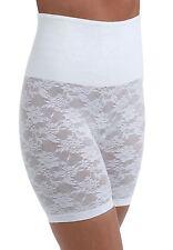 Cortland Shapewear Long Leg White Lace Banded Shaper Plus Size 42/6XL