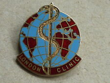 UNKNOWN VINTAGE HALLMARKED SILVER BADGE LONDON CLINIC HOSPITAL NURSING c1961