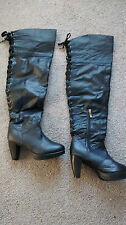 Over Knee Boots Lace Up Slim Shoes for Women