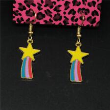 Rainbow Enamel Cute Star Girl Betsey Johnson Women Stand Earrings