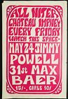 JIMMY POWELL MAX BAER CHATEAU IMPNEY WORCESTERSHIRE UK 1968 CONCERT POSTER RARE