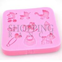 New Born Baby Shower Silicone Mould Cupcake Topper Mold Decoration Fondant Tool