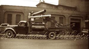 1940s photo Negative JOHN DEERE Truck Auto CORN Sheller FARM Machine Moline IL