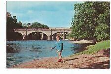 Postcard Crook of Lune Caton Lancashire Postmark 1981  (A35)
