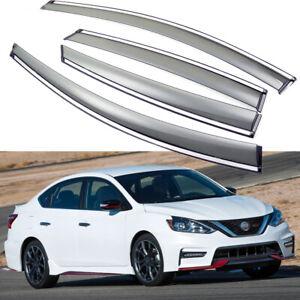 Car Window Visor Vent Deflector Sun/Rain Guards for Nissan Sentra 2013-2019