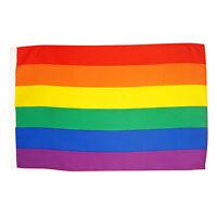Stockflagge Regenbogen  Peace 30 x 45 cm ohne Stock Fahne Frieden Flagge