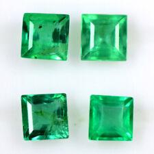 Natural Top Green Emerald 3.4-3.5mm Square Cut Lot 0.84 cts Zambian Gemstone