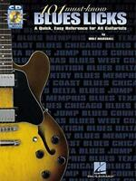 101 Must-know Blues Licks: TAB (Tab Book & CD) by Wolf Marshall | Paperback Book