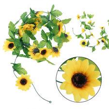 Artificial Yellow Sunflower Flower Vine Garland Wedding Floral Arch Decor Silk