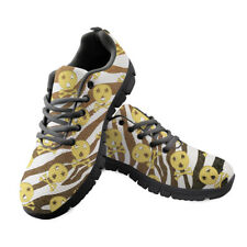 Skull Print Women Sports Casual Shoes Lace Up Running Sneakers Athletic Trainers