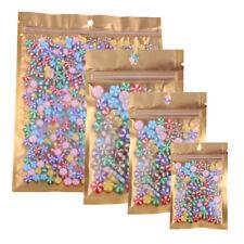 Flat Hang Hole 100PCS Clear/Gold/Silver Mylar ZipLock Bag 8.5x13cm(3.25x5in)A67