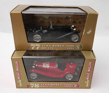 Pair (2) Brumm 1/43  Alfa Romeo 2300 in Black & Red #106 Racecar r77 r78 MIB