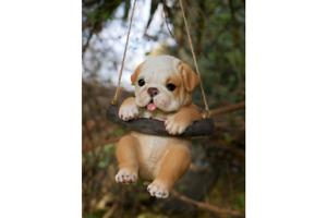 Tree Hanging Dog Garden Ornament Garden Decoration Hanging Animal Bulldog Puppy