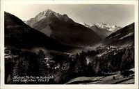 Stubai Tirol Ansichtskarte ~1950/60 Panorama Blick nach Telfes mit Habicht