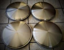 "RACING DISC FULL MOON HUBCAPS 15 INCH STAINLESS STEEL 15"" NEW SET OF 4"