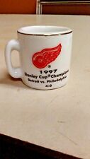nhl stanley cup crazy mini mug detroit red wings 1997 champs mit gegner & score