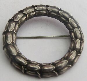 SUPERB VINTAGE GEORG JENSEN SILVER WREATH BROOCH by SIGVARD BERNADOTTE  #301