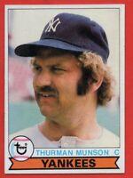 1979 Topps #310 Thurman Munson EX-EX+ MIcro-Wrinkle. New York Yankees FREE SHIP
