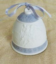 Lladro Porcelain Annual Christmas Bell 1993 Lavender