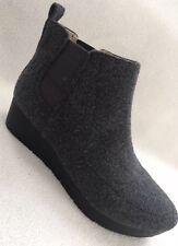 New Dr Scholls Scarlet Grey Felt Ankle Boots Booties Wedge sz 6 US/ 36