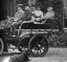 THOMAS POWER & FAMILY DUBLIN DISTILLERS IN EARLY CAR 1902 VINTAGE PRINT MOUNTED