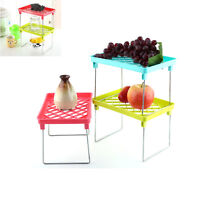 Foldable Storage Dish Shelf Rack Cupboard Kitchen Bathroom Holder Organizer Desk