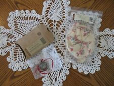 Longaberger 2004 Let Me Call You Sweetheart Tie-On & Floral Bouquet Liner! Nip!