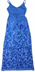 New Old Navy Maternity Blue Floral Shelf Bra Maxi Dress Women NWOT Size S