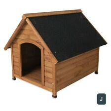 "Doskocil Peak Roof Wooden Dog House Medium, 32"" for Dogs 50-70 Lbs. Raised Floor"