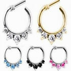 1pc Rhinestone Crystal Cartilage Hoop Piercing Nose Ring Tragus Helix Earring